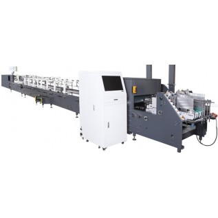 Фальцевально склеивающая линия с контролем качества продукции Dgm-Vi-1100-Smartfold. Для производства коробок в фармацевтической, пищевой, легкой и других областях промышленности